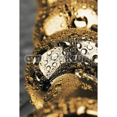 Анальная пробка с красным кристаллом Toyfa Metal 717058-9, золотая