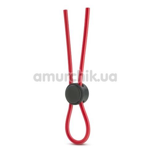 Эрекционное кольцо Stay Hard Silicone Loop Cock Ring, красное - Фото №1