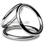 Эрекционное кольцо Unbendable Triad Chamber Metal Cock And Ball Ring M, серебряное - Фото №1