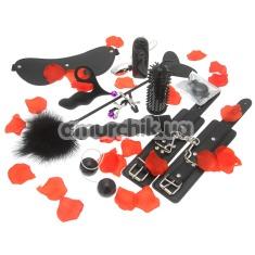 Набор из 10 игрушек Amazing Pleasure Sex Toy Kit, черный - Фото №1