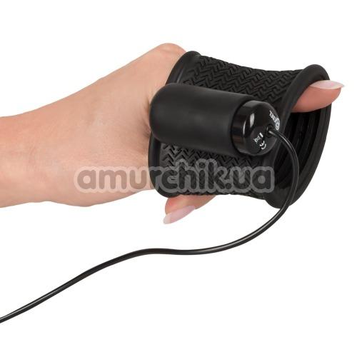 Насадка на пенис с вибрацией Rebel Vibrating Stroker, черная
