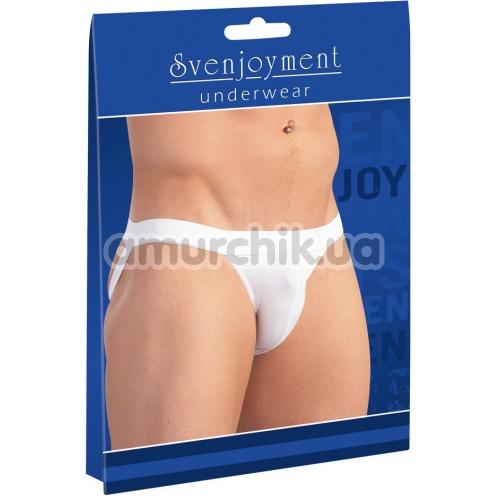 Трусы мужские с открытыми ягодицами Svenjoyment Underwear 2100088, белые