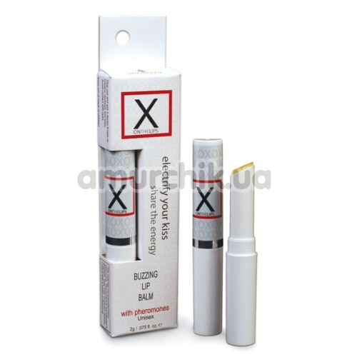 Бальзам для губ с феромонами и эффектом вибрации Sensuva X On The Lips, 2 мл - Фото №1