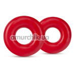 Набор из 2 эрекционных колец Stay Hard Donut Rings Oversized, красный - Фото №1
