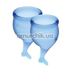 Набор из 2 менструальных чаш Satisfyer Feel Secure, синий - Фото №1
