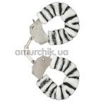 Наручники Furry Fun Cuffs, зебра - Фото №1