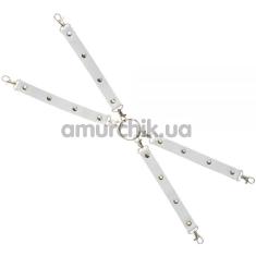 Ремешки для фиксаторов sLash Leather Fixer Large, белые - Фото №1