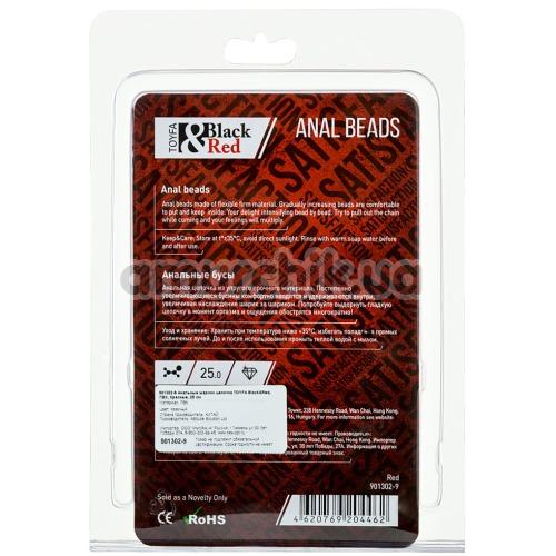 Анальная цепочка Black & Red Anal Beads, красная
