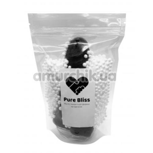 Мыло в виде пениса с присоской Pure Bliss M, черное