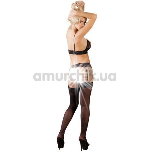 Костюм официантки Cottelli Collection Costumes 2470713 чёрно-белый: бюстгальтер + пояс для чулок