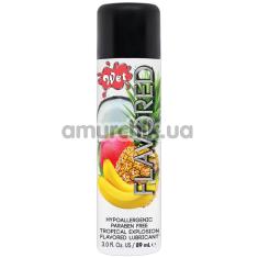 Оральный лубрикант Wet Flavored Tropical Explosion, 89 мл - Фото №1
