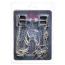 Зажимы для сосков квадратные с шипами Lucky Bay Nipple Play Chain and Spike, серебряные - Фото №2