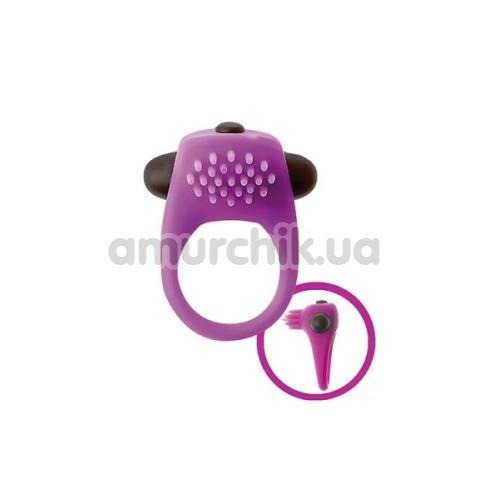 Виброкольцо Mai Attraction Pleasure Toys N68, фиолетовое - Фото №1
