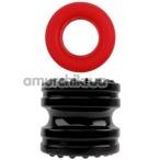 Набор из 2 эрекционных колец GK Power Hard-On Ring Set, красно-черный - Фото №1