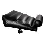 Надувная подушка для секса с фиксаторами Dark Magic, черная - Фото №1