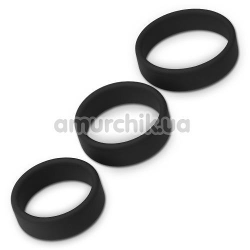 Набор эрекционных колец Power Plus Cock Ring Series Pro, черный - Фото №1