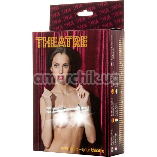 Фиксаторы для рук Toyfa Theatre 701005, белые