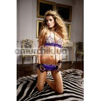 Комплект Purple-Zebra Ruffled Booty Shorts Set: бюстгальтер + трусики