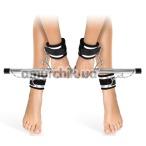 Фиксаторы для рук и ног Fetish Tentation Submission Bar With 4 Cuffs, черные - Фото №1