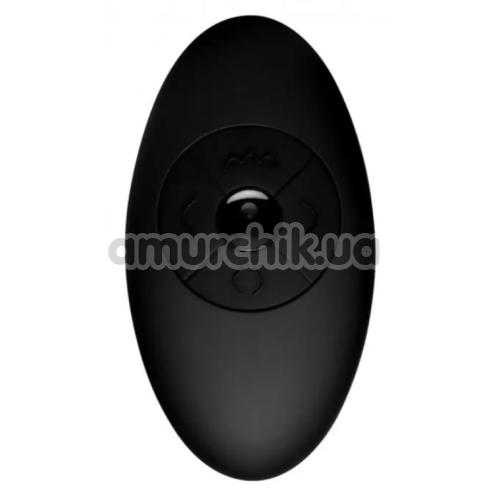 Анальный вибратор Thunderplugs Silicone Vibrating & Squirming Plug with Remote Control, черный