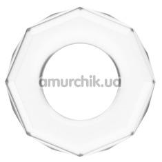 Эрекционное кольцо Power Plus Cock Ring Series LV1434, прозрачное - Фото №1