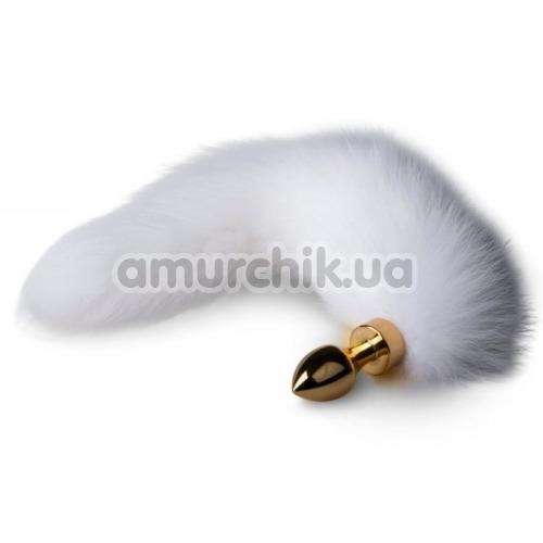 Анальная пробка с хвостиком Easy Toys Fox Tail Plug S, золотая