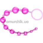 Анальная цепочка B Yours Basic Beads, розовая - Фото №1