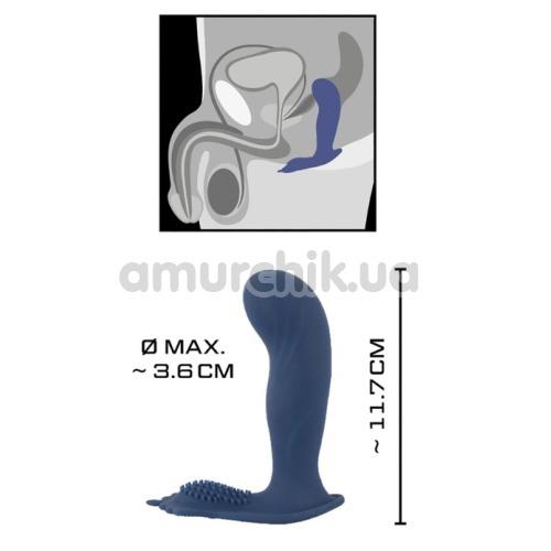 Вибростимулятор простаты Vibrating Butt Plug With Nubs, синий