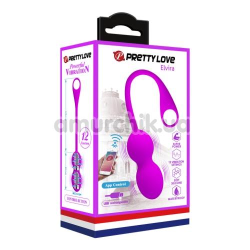 Вагинальные шарики Pretty Love Elvira, фиолетовые