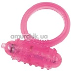 Виброкольцо Silicone Soft Cock Ring Vibro розовое