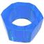 Эрекционное кольцо Get Lock Nust Bolts Cock Ring, синее - Фото №3
