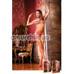 Комплект Pink-Black Bikini Set With Lacing: бюстгальтер + трусики-стринги - Фото №1
