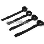 Фиксаторы для рук и ног Whipsmart Diamond Colleсtion Bed Restrain Kit, черные - Фото №1