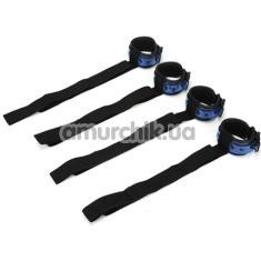 Фиксаторы для рук и ног Whipsmart Diamond Colleсtion Bed Restrain Kit, синие - Фото №1