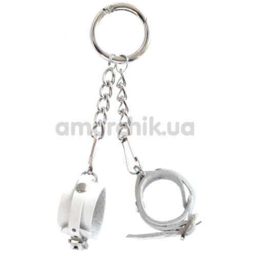 Брелок Feral Feelings наручники с пряжкой, белый - Фото №1