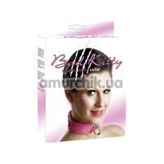 Ошейник Bad Kitty Naughty Toys Collar, с большим кольцом, розовый - Фото №1