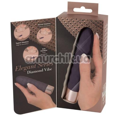 Вибратор Elegant Series Diamond Vibe, фиолетовый