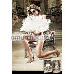 Трусики-стринги женские White Lace Diamond Tulle G-String (модель B813)