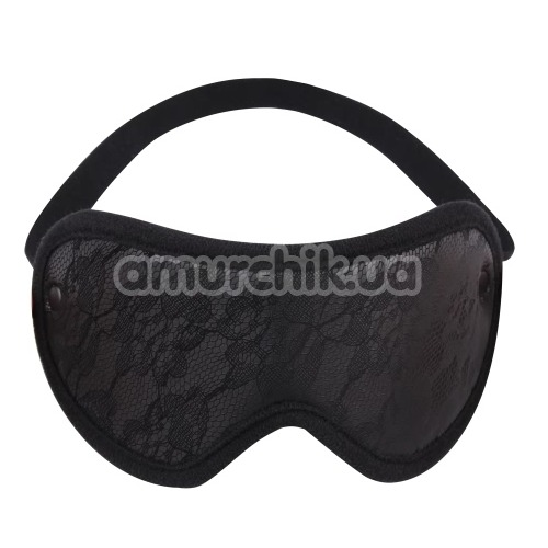 Маска Behave! Luxury Fetish Tempt Him Blindfold, черная - Фото №1