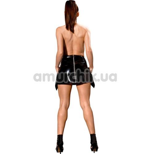 Мини-юбка Avanza Vinyl Skirt, чёрная