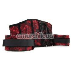 Корсет с фиксаторами Scandal Corset with Cuffs, черно-красный - Фото №1
