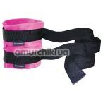 Фиксаторы для рук Sex & Mischief Kinky Pinky Cuffs With Tethers, розовые - Фото №1