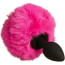 Анальная пробка с розовым хвостиком Loveshop S, черная - Фото №1
