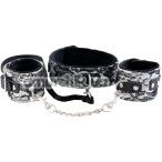 Бондажный набор: ошейник + наручники Marcus