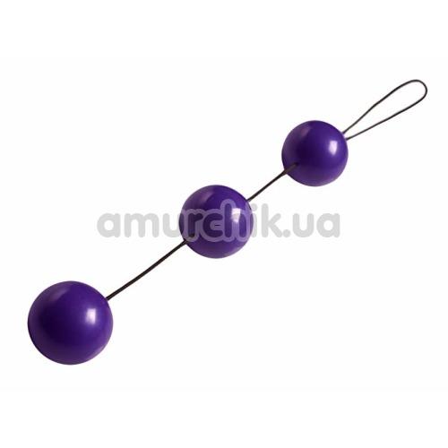Вагинальные шарики Trinity Vibes Geisha 3 Trainer Benwa Balls, фиолетовые - Фото №1