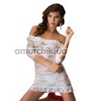 Комплект Agathe белый: комбинация + трусики-стринги - Фото №1
