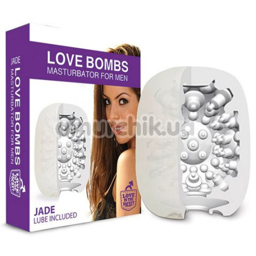 Мастурбатор Love Bombs Jade, белый