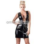 Платье Black Level Vinyl Dress Zip, черное - Фото №1