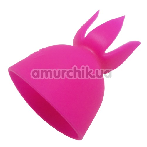 Насадка на универсальный массажер Lesparty Clit, розовая