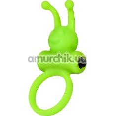 Виброкольцо A-Toys Cock Ring 768017, салатовое - Фото №1